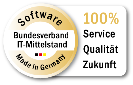 "Siegel des Bundesverbandes IT-Mittelstand ""Software made in Germany"" für contentXXL CMS und Webbusiness Software"